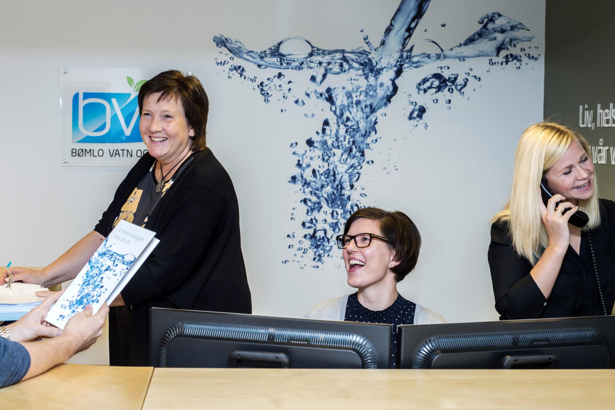 Bilde av kundebehandlarane i BVA.