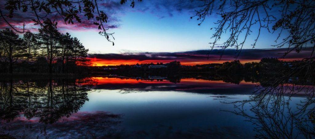 Bilde av Storavatnet på Bømlo.